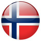 Norway Button. Isolated on white background Royalty Free Stock Photos