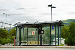 Norway city bus stop transport background Royalty Free Stock Images