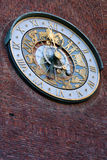 Norway. The clock on the town hall of Oslo. Stock Photography