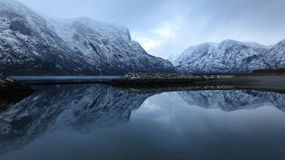 Norway. Cold black water Royalty Free Stock Images
