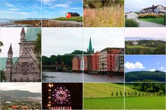 Norway collage Stock Images