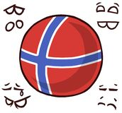 Norway country ball. Cool logo stock illustration
