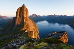 norway Crête de Segla sur Senja dans Troms images stock