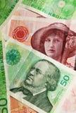 Norway currency. Detail of Norway currency (crown or krone, NOK
