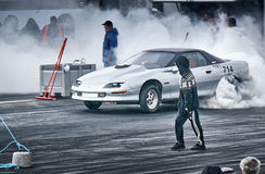 Norway drag racing, car drifting Royalty Free Stock Images