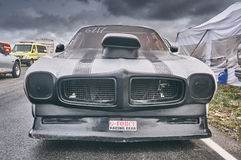 Norway drag racing, car race  front view Royalty Free Stock Photo