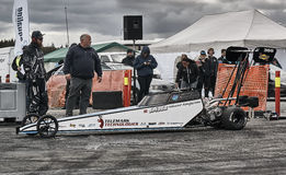 Norway drag racing, car at the start of the race Stock Images