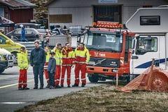 Norway drag racing, emergency service Royalty Free Stock Photo