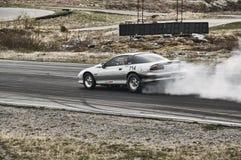 Norway drag racing, fuming drift car Royalty Free Stock Photography