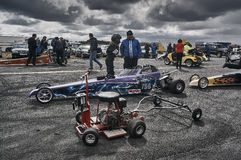 Norway drag racing, during the preparation for the race Royalty Free Stock Photos
