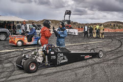 Norway drag racing, preparation for the race Royalty Free Stock Image