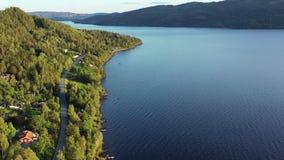 Norway, Drone footage. Norwegian nature during summer season.