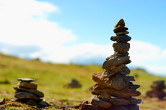 Norway dzen stones over the top background Royalty Free Stock Photos