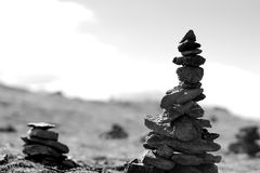 Norway dzen stones over the top background Royalty Free Stock Image
