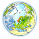 Norway on Earth isolated Royalty Free Stock Photo