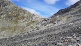 norway En svår passage till och med bergen arkivfoton