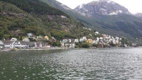norway Facendo un'escursione nelle montagne fotografia stock