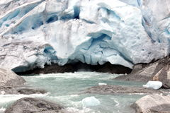 Norway, Famous Briksdalsbreen glacier Royalty Free Stock Images