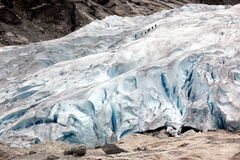 Norway, Famous Briksdalsbreen glacier Royalty Free Stock Image