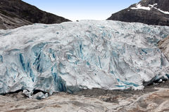 Norway, Famous Briksdalsbreen glacier Stock Photo
