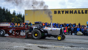 NORWAY, FARSTAD- 29 SEPT 2015: Tractor pulling. Stock Photos