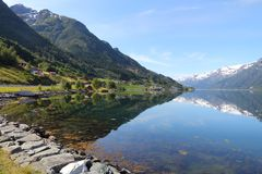 Norway fiord landscape Stock Photography
