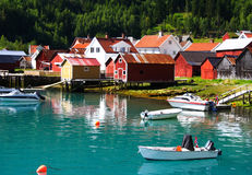Norway Fishing village Stock Photos
