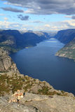 Norway fjord Stock Image