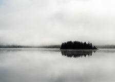 Norway fjord fog lake Royalty Free Stock Photo