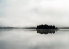 Norway fjord fog lake Royalty Free Stock Photo