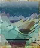 Norway fjord landscape. Aged illustration Royalty Free Stock Images