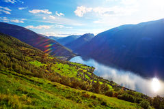 Norway fjord landscape Royalty Free Stock Image