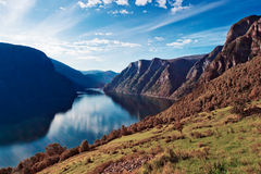 Norway fjord landscape Stock Photography
