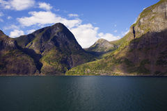 Norway fjord landscape in summer Royalty Free Stock Photography