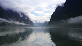 Norway Fjord morning stock video footage