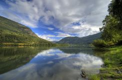 Norway fjord reflection royalty free stock photos