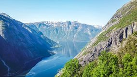 Norway - A fjord view stock photo