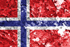 Norway flag. Painted on grunge wall royalty free stock photos