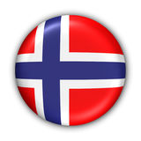 Norway Flag. World Flag Button Series - Europe - Norway(With Clipping Path Stock Photography