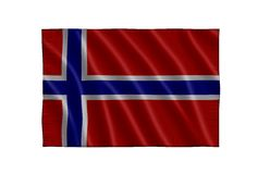Norway Flag Royalty Free Stock Photography
