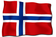Norway Flag. Flag of Norway waving in the wind Royalty Free Illustration