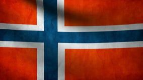 Norway flag stock illustration