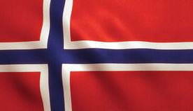 Norway Flag. Background with fabric texture royalty free stock photography