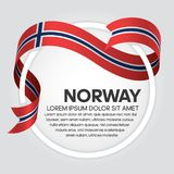 Norway flag background. Norway ribbon flag on background creative template. Simple work and adjusted to suit your needs royalty free illustration