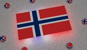 Norway Flag blue white red europe vector illustration
