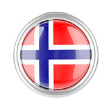 Norway flag button Stock Photography
