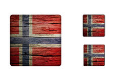 Norway Flag Buttons Stock Photo
