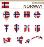 Norway Flag Collection. 12 versions royalty free illustration
