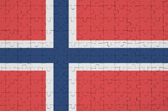 Norway flag is depicted on a folded puzzle vector illustration