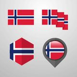 Norway flag design set vector. This Vector EPS 10 illustration is best for print media, web design, application design user interface and infographics with vector illustration